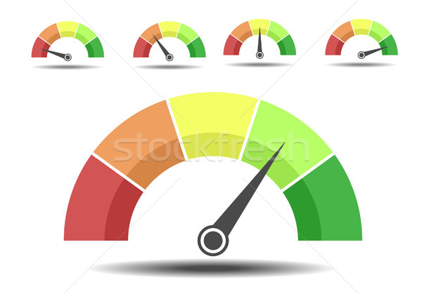 different Rating meters Stock photo © unkreatives
