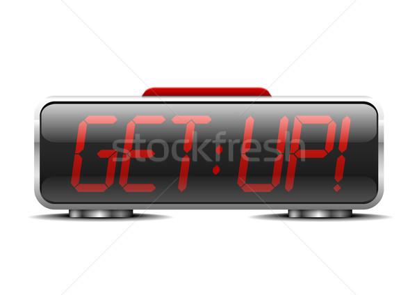 Stok fotoğraf: çalar · saat · yukarı · ayrıntılı · örnek · dijital