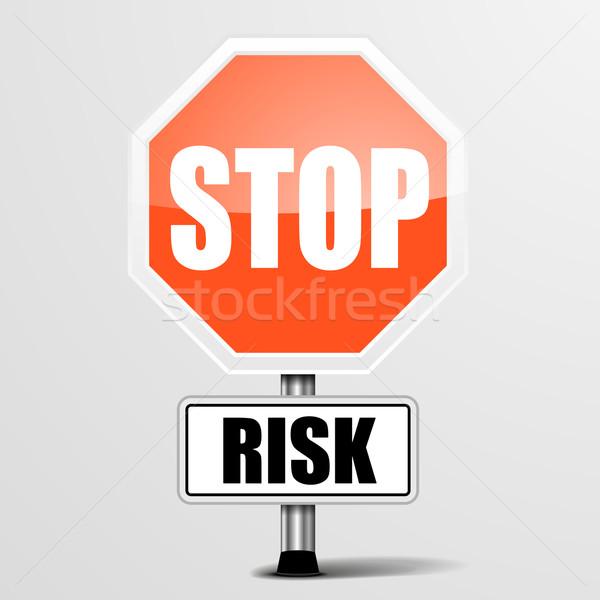 остановки риск подробный иллюстрация красный знак Сток-фото © unkreatives