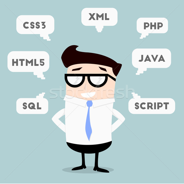 Businessman Programming Languages Stock photo © unkreatives