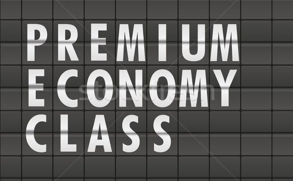 Premio economia classe dettagliato illustrazione aeroporto Foto d'archivio © unkreatives