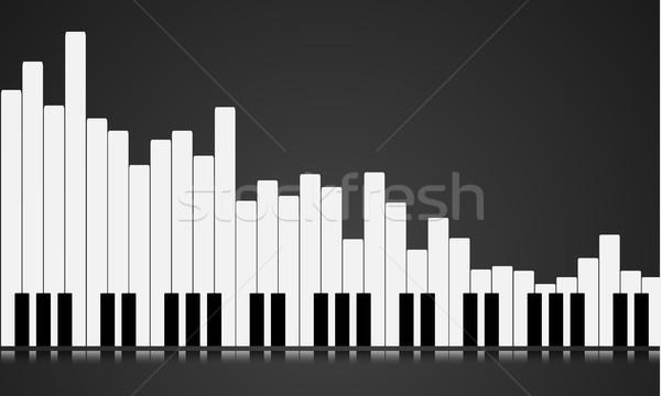 Illusztráció zongora kulcs hangszínszabályozó eps10 vektor Stock fotó © unkreatives