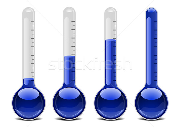 blue thermometers Stock photo © unkreatives