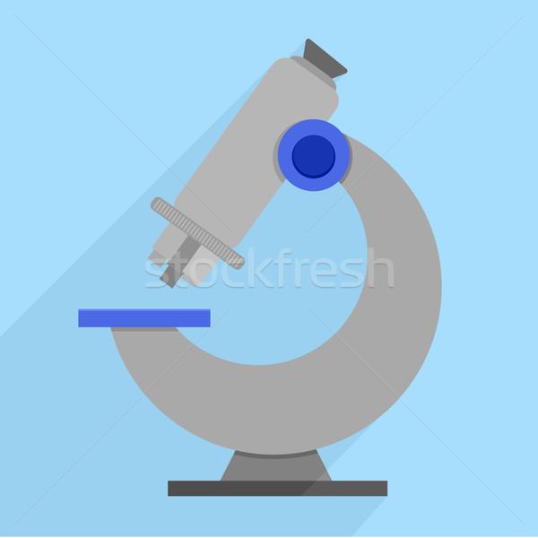 Microscope détaillée rétro style illustration eps10 Photo stock © unkreatives