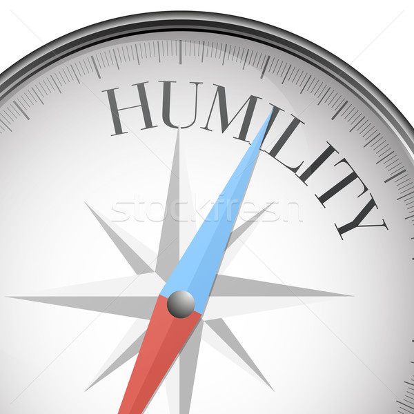 Stock photo: compass humility