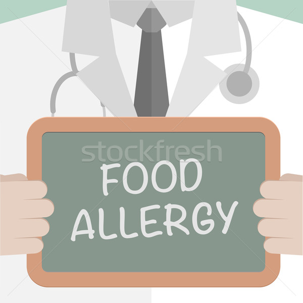 Food Allergy Medical Board Stock photo © unkreatives