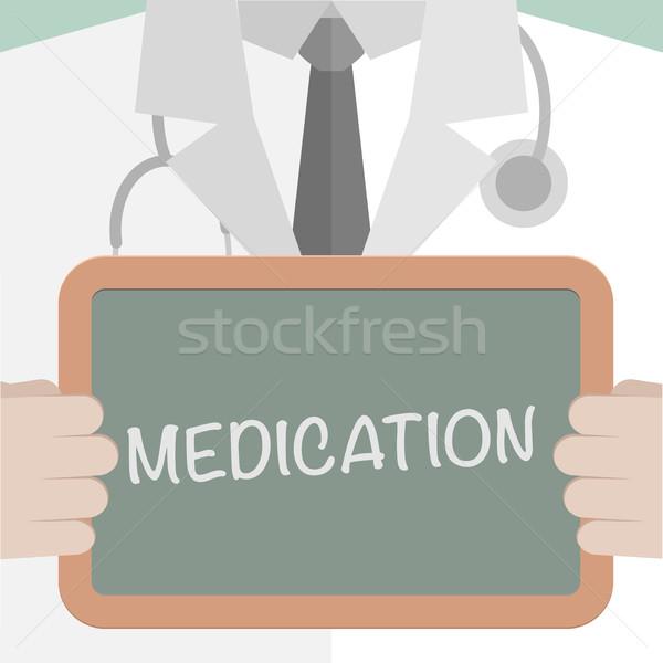 Médicaux bord médication illustration médecin Photo stock © unkreatives