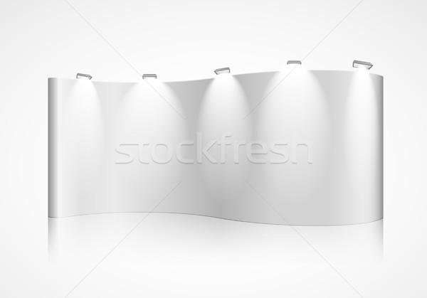 展示 壁 詳しい 実例 eps10 ベクトル ストックフォト © unkreatives