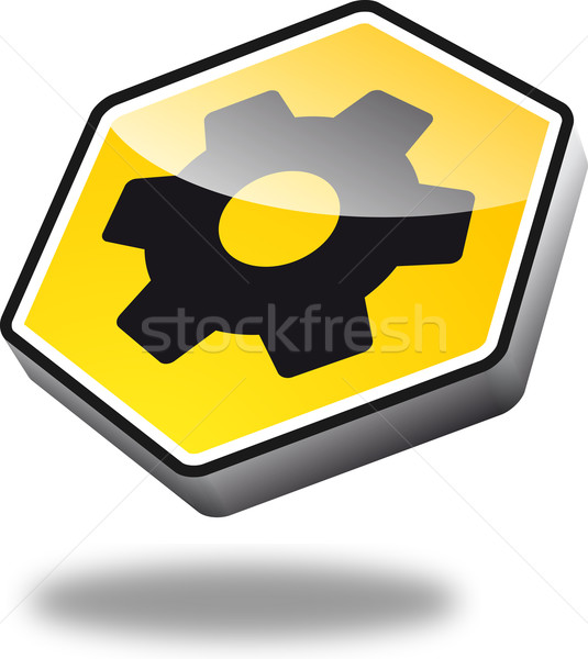 Button Cogwheel Stock photo © unkreatives