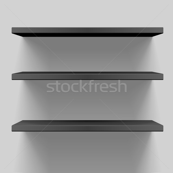 black shelves Stock photo © unkreatives