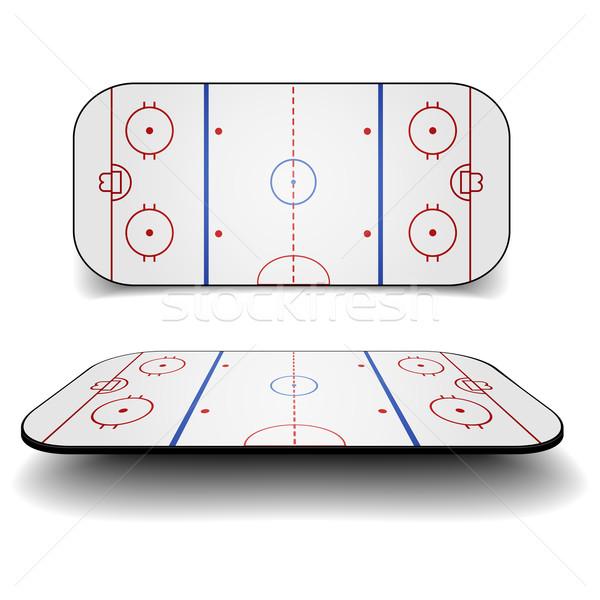 icehockey court Stock photo © unkreatives