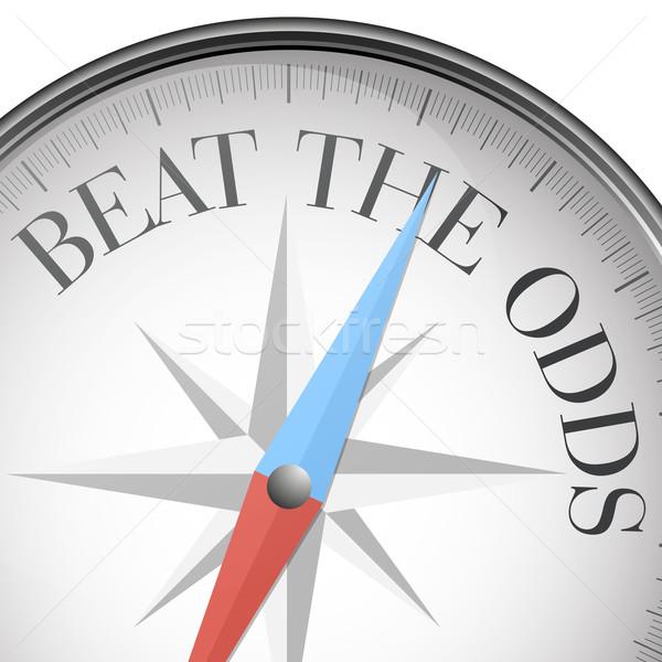 компас бить шансы подробный иллюстрация текста Сток-фото © unkreatives