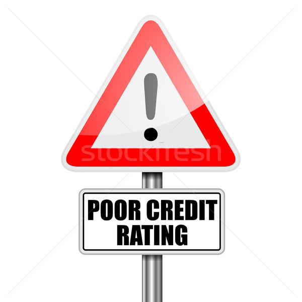 Stok fotoğraf: Yoksul · kredi · ayrıntılı · örnek · kırmızı · dikkat