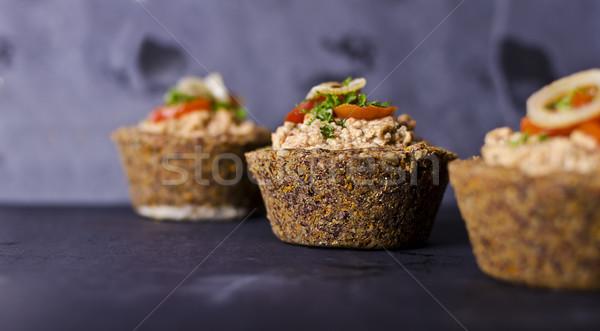 Faible vegan écrou remplissage légumes Photo stock © unkreatives