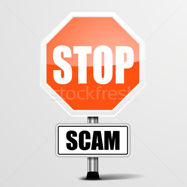 Roadsign Stop Scam Stock photo © unkreatives