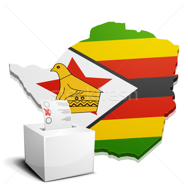 Zimbabwe détaillée illustration carte eps10 vecteur Photo stock © unkreatives