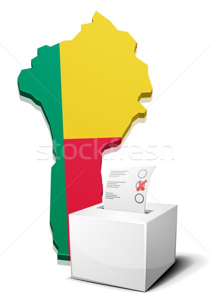 Benin dettagliato illustrazione mappa eps10 vettore Foto d'archivio © unkreatives