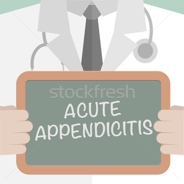 Medical Board Appendicitis Stock photo © unkreatives