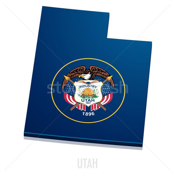 Carte Utah détaillée illustration pavillon eps10 Photo stock © unkreatives