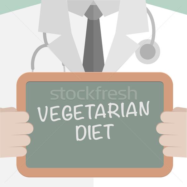 Medical Board Vegetarian Diet Stock photo © unkreatives