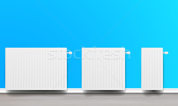 white home radiators Stock photo © unkreatives