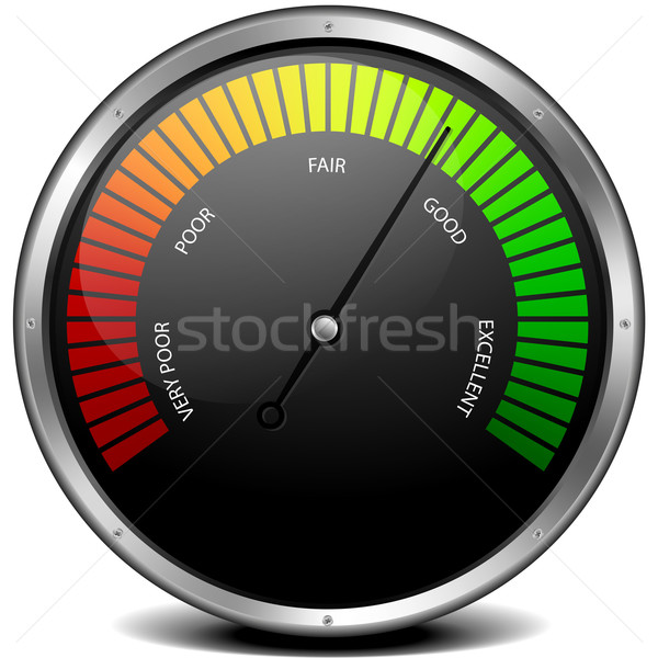 Stock photo: Satisfaction Meter