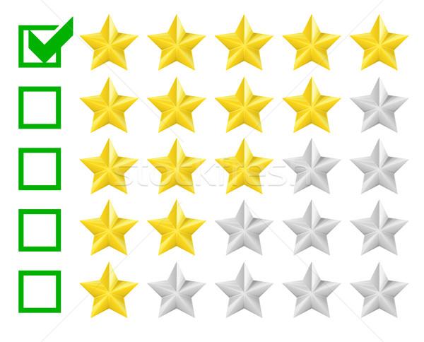 星 詳しい 実例 星 チェックボックス 5 ストックフォト © unkreatives