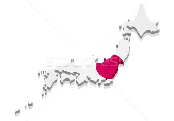 Map Japan Stock photo © unkreatives