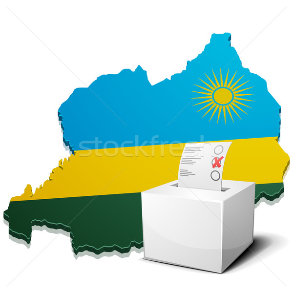 ballotbox Rwanda Stock photo © unkreatives