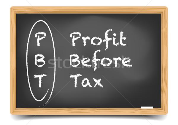 Résultat impôt détaillée illustration tableau noir explication Photo stock © unkreatives