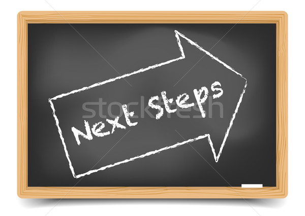 Blackboard Next Steps Stock photo © unkreatives