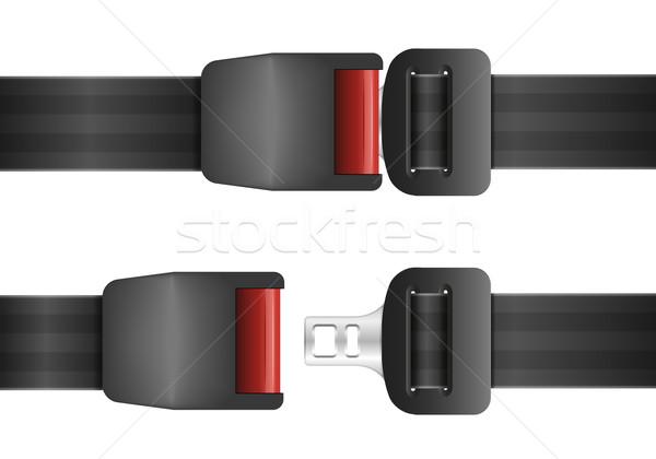 öffnen geschlossen Sicherheitsgurt detaillierte Illustration Auto Stock foto © unkreatives