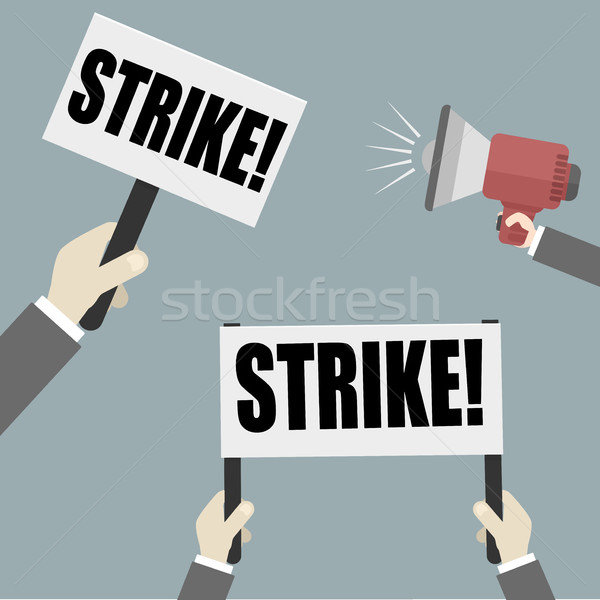 Staking illustratie handen protest Stockfoto © unkreatives
