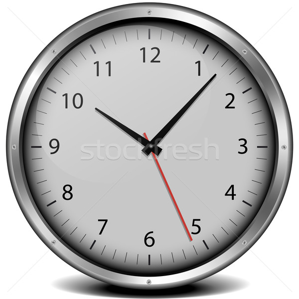 clock with metal frame Stock photo © unkreatives