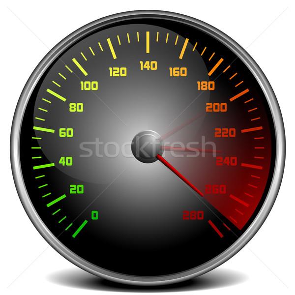Velocímetro ilustración coche deporte poder Foto stock © unkreatives