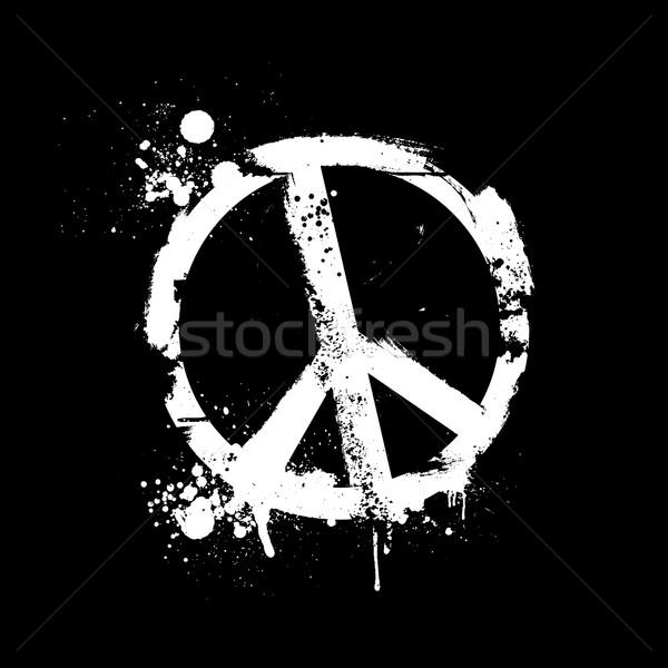 Grunge béke részletes illusztráció koszos szimbólum Stock fotó © unkreatives