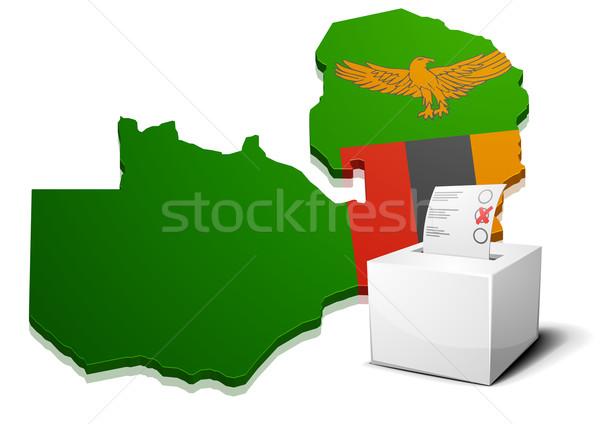 Zambiya ayrıntılı örnek harita eps10 vektör Stok fotoğraf © unkreatives