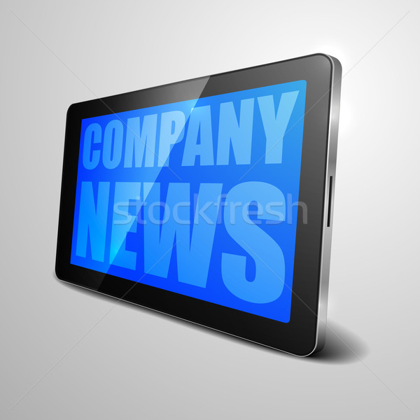 tablet Company News Stock photo © unkreatives