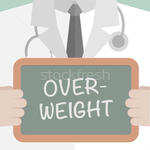 Medizinischen Bord Übergewicht Illustration Arzt Stock foto © unkreatives