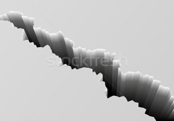 Profonde fissuré sol détaillée illustration gris Photo stock © unkreatives