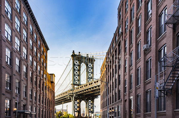Manhattan Bridge Empire State Stock photo © unkreatives