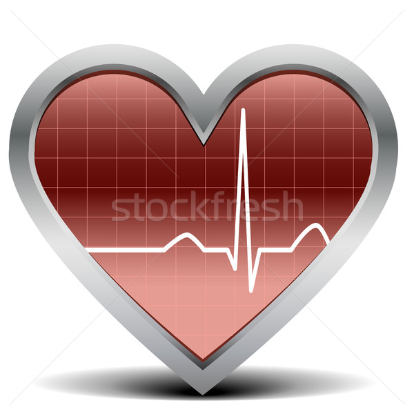 heart beat signal Stock photo © unkreatives