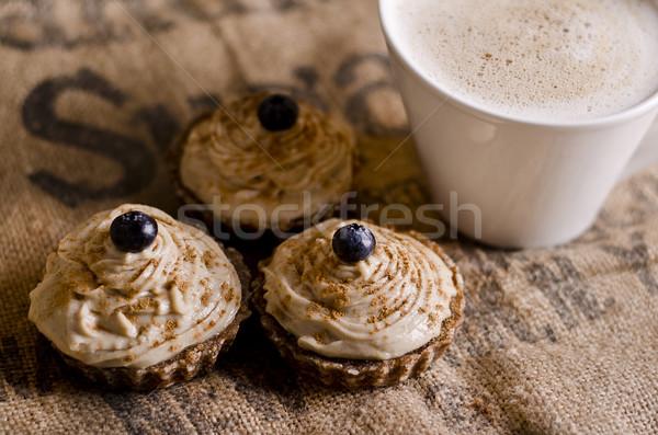 Tasse café myrtille haut Photo stock © unkreatives