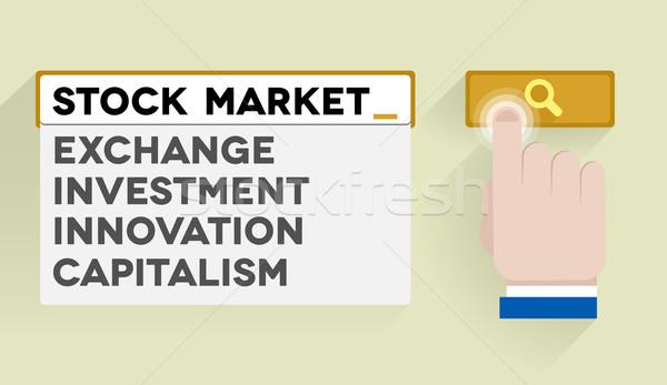 Recherche stock illustration bar bourse Photo stock © unkreatives