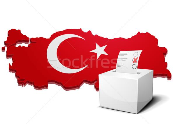 Votación cuadro Turquía detallado ilustración 3D Foto stock © unkreatives