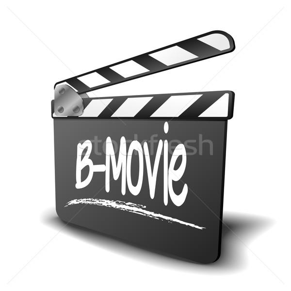 Bord détaillée illustration symbole film vidéo Photo stock © unkreatives