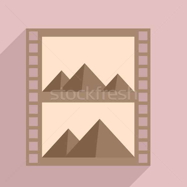 Filmstrip minimalist örnek fotoğrafçılık içerik eps10 Stok fotoğraf © unkreatives