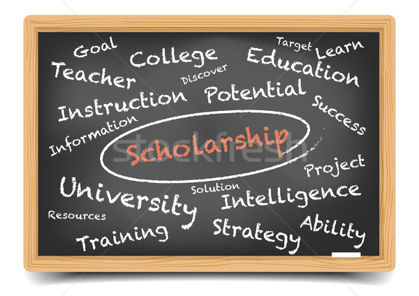 Wordcloud Scholarship Stock photo © unkreatives