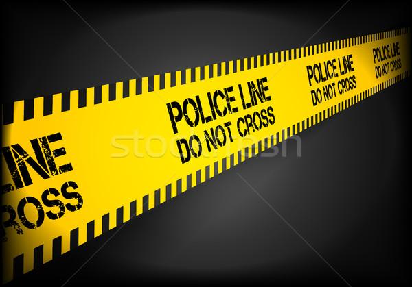 Police Line Background Stock photo © unkreatives