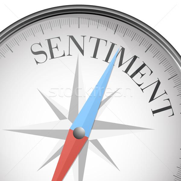 Boussole sentiment détaillée illustration texte eps10 Photo stock © unkreatives